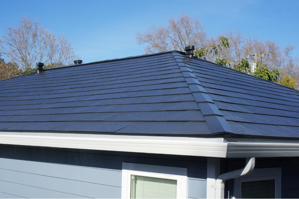 A closer look of our house with Solar Roof at something like eye-level